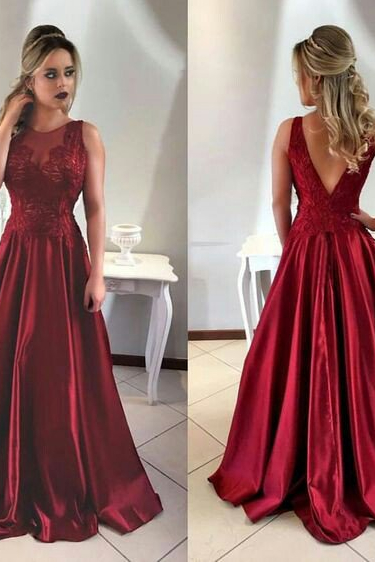 O-Neck A-Line Newest Prom Dresses,Long Prom Dresses,Cheap Prom Dresses, Evening Dress Prom Gowns, Formal Women Dress,Prom Dress,C534