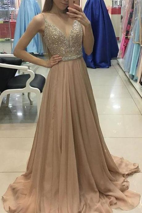 Charming Spaghetti Straps A-Line Prom Dresses,Long Prom Dresses,Green Prom Dresses, Evening Dress Prom Gowns, Formal Women Dress,Prom Dress,C647