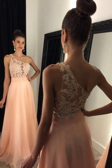 Newest One Shoulder Appliques A-Line Prom Dresses,Long Prom Dresses,Green Prom Dresses, Evening Dress Prom Gowns, Formal Women Dress,Prom Dress,C669
