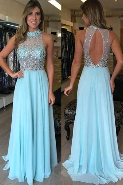 Elegant O-Neck A-Line Beading Prom Dresses,Long Prom Dresses,Green Prom Dresses, Evening Dress Prom Gowns, Formal Women Dress,Prom Dress,C689