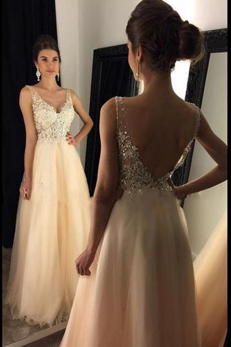 V-Neck A-Line Prom Dresses,Long Prom Dresses,Cheap Prom Dresses, Evening Dress Prom Gowns, Formal Women Dress,Prom Dress,C37