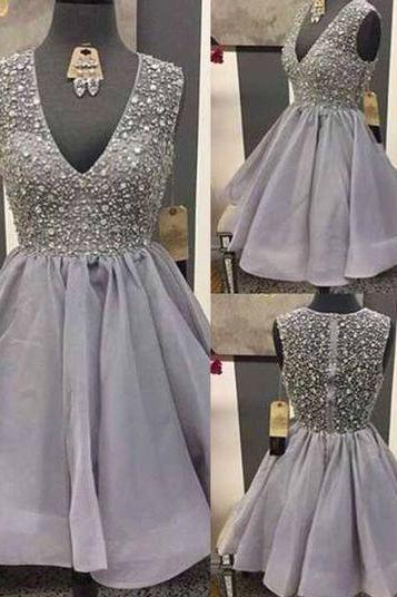 V-Neck A-Line Homecoming Dresses,Short Prom Dresses,Cheap Homecoming Dresses, Graduation Dress, Formal Women Dress,Homecoming Dress,C111