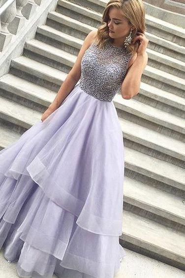 Sexy O-Neck Beading Prom Dresses,Long Prom Dresses,Cheap Prom Dresses, Evening Dress Prom Gowns, Formal Women Dress,Prom Dress,C357