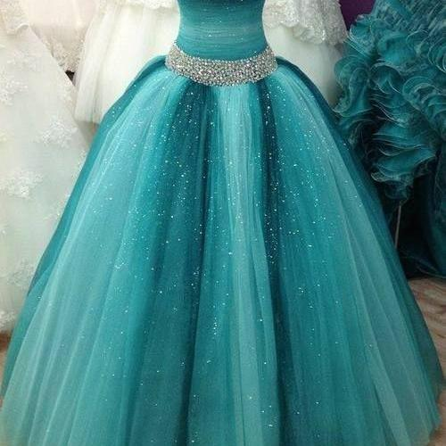 Spaghetti Straps Beading Tulle Prom Dresses,Long Prom Dresses,Cheap Prom Dresses, Evening Dress Prom Gowns, Formal Women Dress,Prom Dress,C245