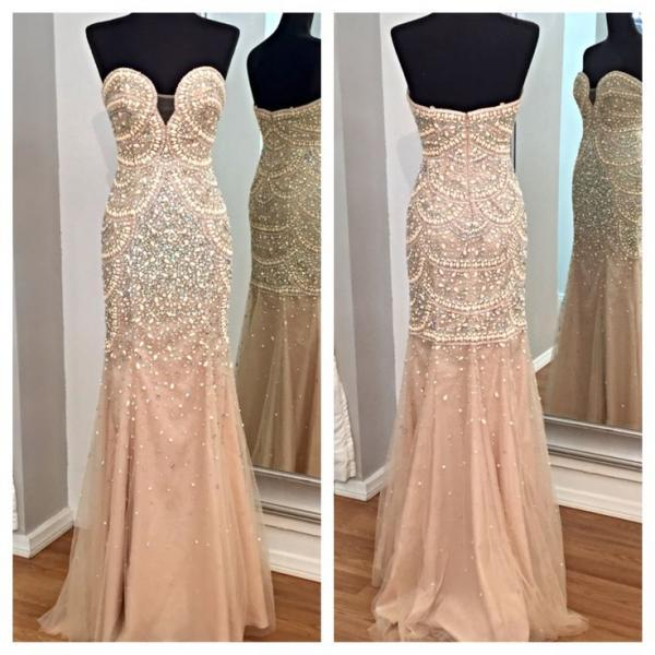 Sweetheart Beading Mermaid Prom Dresses,Long Prom Dresses,Cheap Prom Dresses, Evening Dress Prom Gowns, Formal Women Dress,Prom Dress,C246