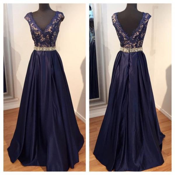 V-Neck Lace Chiffon Prom Dresses,Long Prom Dresses,Cheap Prom Dresses, Evening Dress Prom Gowns, Formal Women Dress,Prom Dress,C247